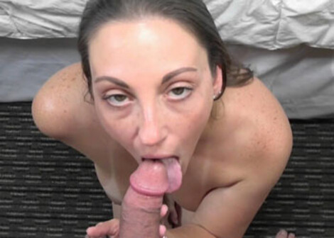 Melanie lifts her skirt for some POV sex