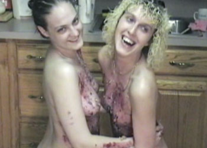 Danni and Cindy get messy
